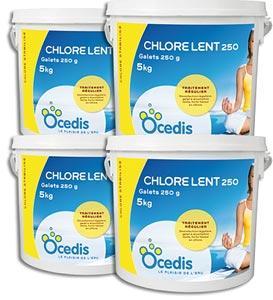 Chlore lent piscine pack 4x5kg chlore lent pas cher for Chlore pour piscine pas cher