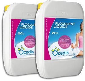 Floculant liquide pack 2x20l chez piscineazur for Aspirateur piscine 10m3