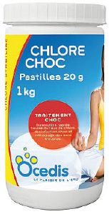 chloration choc chlore choc pastilles 20g. Black Bedroom Furniture Sets. Home Design Ideas