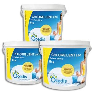 Chlore lent galet 250 ou 500g chlore retard piscine - Galet chlore lent pour piscine ...
