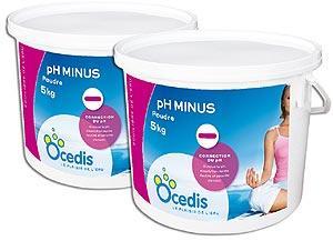 Ph moins poudre piscine correcteur ph moins pack 2x5kg for Algues piscine ph